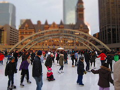 image of Skating at Nathan Phillips Square one of the cheap, fun things to see and do in toronto
