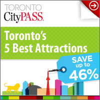 image of a Toronto CityPASS ad to save up to 46% on Toronto's 5 Best attractions