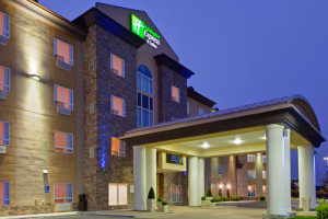 image of the Holiday Inn Express & Suites Airport one of the cheap hotels in Calgary