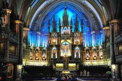 image of the Basilique Notre-Dame one of the free things to see in Montreal
