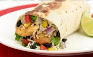 image of a burritos from Quesada one of the cheap places to eat in Niagara Falls, Ontario, Canada