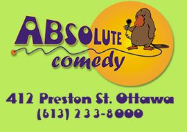 image of absolute comedy niteclub logo one of the cheap things to do in Ottawa