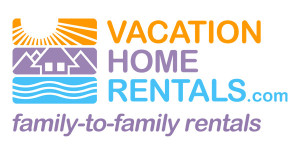 Image of the logo for vacation home rentals another great source for accommodations when you're planning a cheap vacation