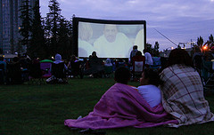 image of an outdoor movie night one of the fun, free things to do in Toronto