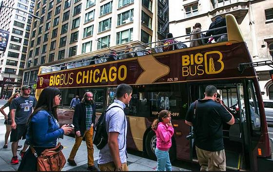 big bus chicago hop-on hop-off bus tour one of the cheap, fun things to do in Chicago