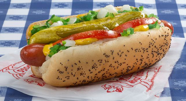 Chicago style hot dog one of the fun, local foods to try when visiting Chicago