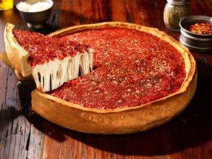 deep dish pizza one of the fun foods to try when visiting Chicago