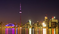 image of the Toronto Skyline at night one of the free things and stuff to do in Toronto