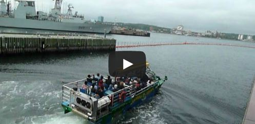 image of the harbour hopper one of the activities featured in a video about the best cheap things and stuff to do in Halifax