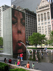 image of the crown fountain one of the free things and stuff to do in chicago