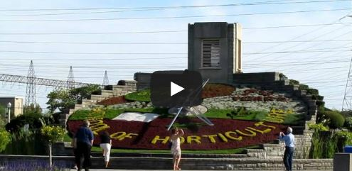 image of the floral clock as featured in a video about Free Things and Stuff to Do in Niagara Falls, Ontario, Canada