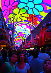 image of freemont street one of the Free Things and Stuff to Do in Las Vegas