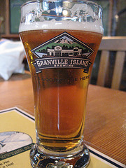 image of a beer from Grandville Island Brewing one of the Best Cheap Things to Do and Fun Stuff to See in Vancouver