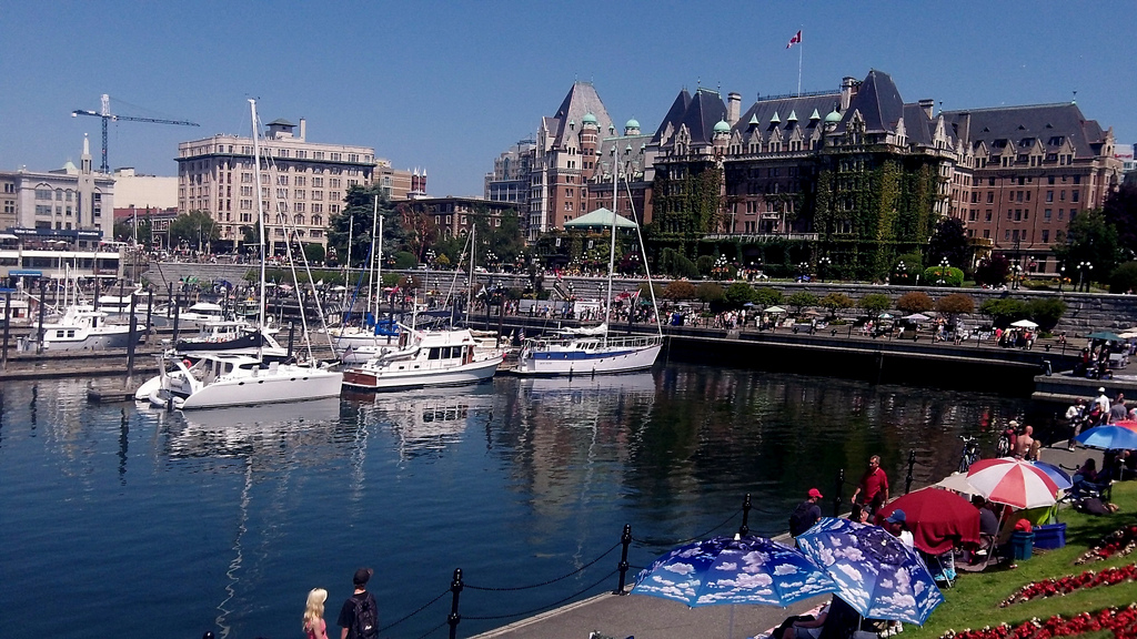 Image of the inner harbour one of the Free Things and Stuff to Do in Victoria, BC