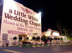 image of the little white wedding chapel one of the Cheap, Fun Things to See & Do in Las Vegas