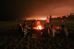 image of an ocean beach bonfire one of the Free Things and Stuff to Do in San Francisco