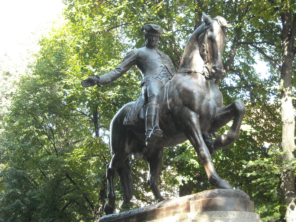 image of the paul revere statue one of the free things and stuff to do in boston