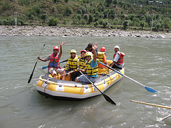 image of people rafting the bow river one of the Free Things and Stuff to Do in Calgary