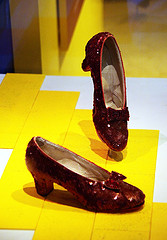 image of dorothy's ruby slippers on display at the smithsonian museums one of the Free Things and Stuff to Do in Washington DC