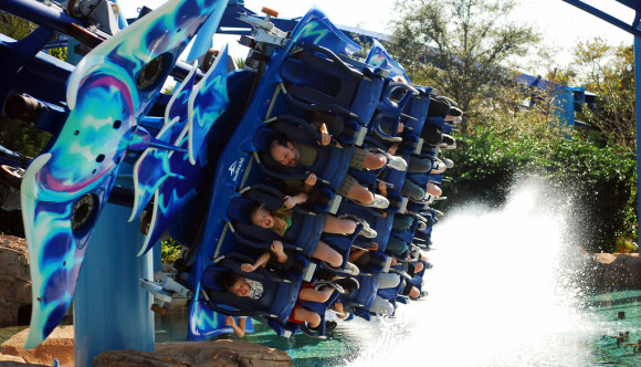 image of a roller coaster at SeaWorld one of the Cheap, Fun Things to See & Do in Orlando