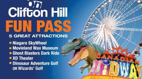 image of the Clifton Hill Fun Pass one of the ways to get discounts on Niagara Falls Attractions and Tours
