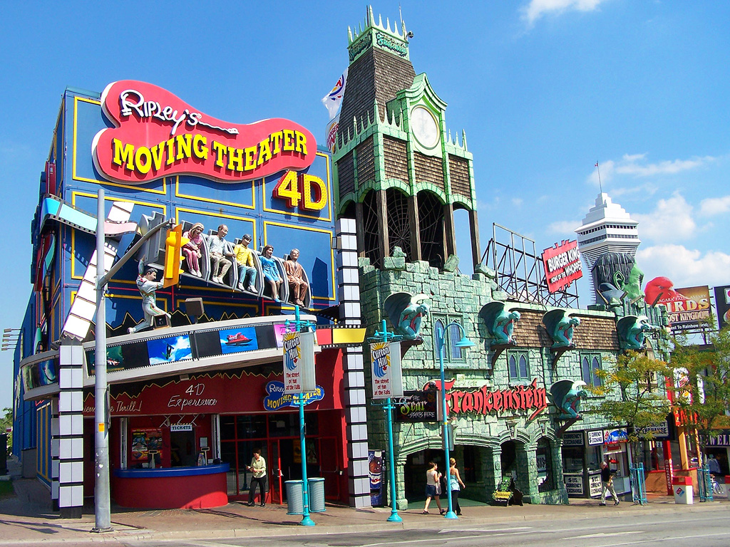 image of Clifton Hill one of the areas where you can use coupons for niagara falls attractions and restaurants