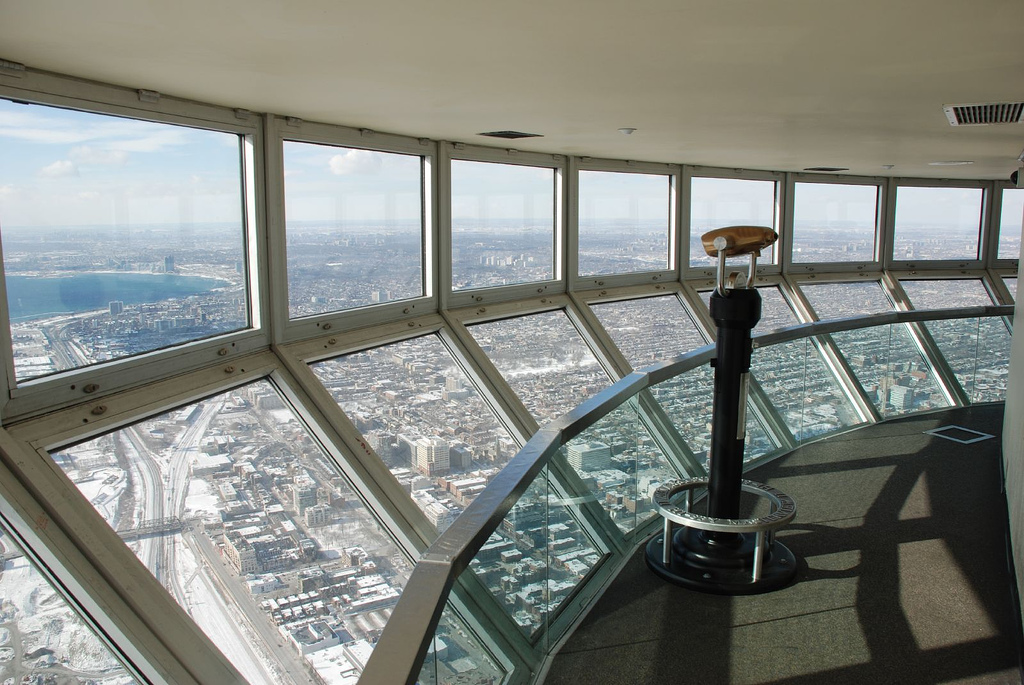 image of the CN Tower Observation Deck one of the Toronto attractions and restaurant coupons you can redeem