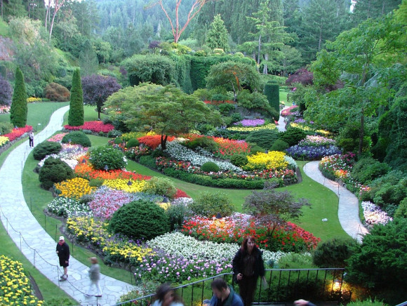 image of butchart gardens one of the victoria bc attractions that offers discount coupons on admission