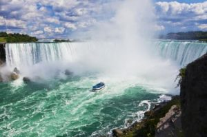 image of the Maid of the Mist Boat Ride one of the Niagara Falls attractions you can buy discounted tickets for