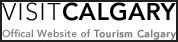 image of the logo for visit calgary the official website of tourism calgary and the source of various hotel packages which include discount coupons for various Calgary attractions and things to do