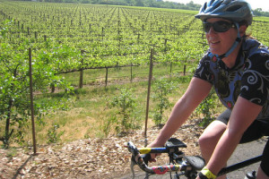 image of someone enjoying the Niagara-on-the-Lake Cycle and Wine-tasting Tour with Optional Picnic Lunch one of the affordable wine tours in niagara falls ontario canada