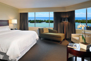 image of the Westin Harbour Castle one of the cheapest toronto hotels near the air canada centre (ACC)