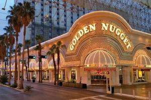 image of the Golden Nugget Hotel one of the cheap places to stay in Las Vegas