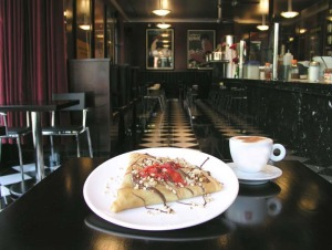 image of a crepe made at Cafe Crepe one of the best cheap breakfast spots in toronto