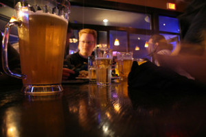 image of a Toronto bar that serves cheap beer by the pitcher
