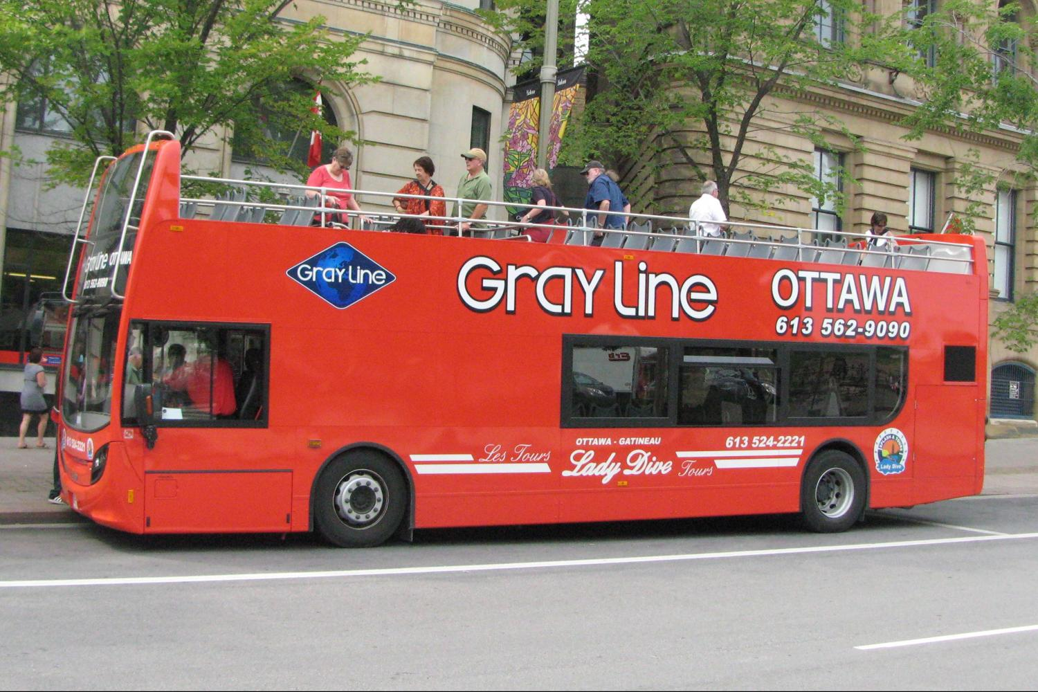 image of the Ottawa City Hop-on Hop-off Bus Tour one of the affordable bus tours in ottawa