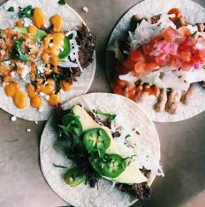Image of the tacos available at La Carnita Mexican restaurant one of the fun things to do in Toronto