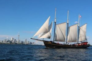 image of a tall ship boat cruise one of the cheap, fun things to do in Toronto