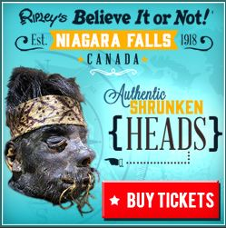 image of Ripley's Believe It or Not Museum one of the places in Niagara Falls offering discount coupons for admission