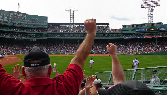 image of a game at Fenway Park one of the events listed on the Boston events calendar