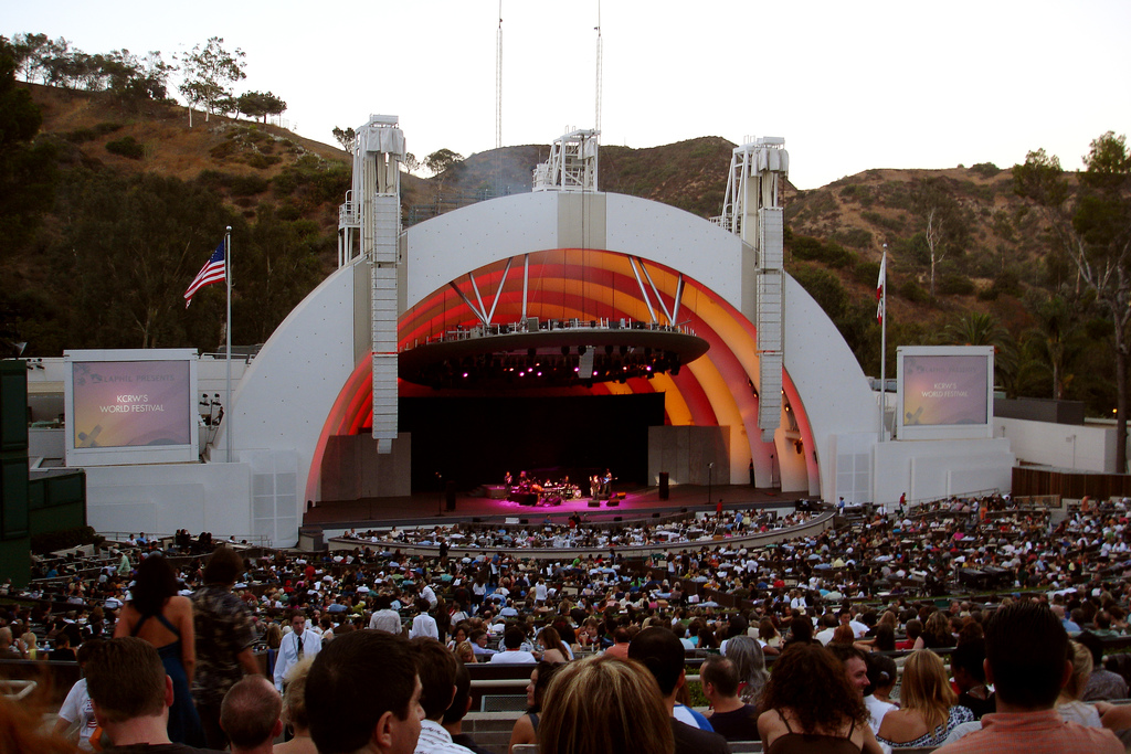 image of a concert at the Hollywood Bowl one of the events listed on the Los Angeles events calendar