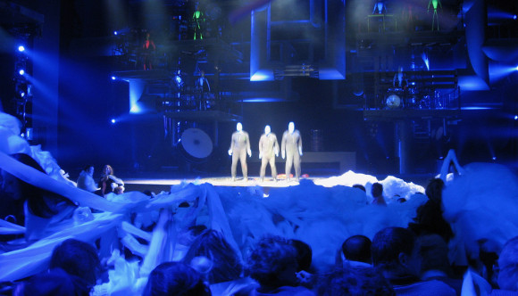 image of the blue man group show one of the events listed on the Orlando events calendar