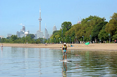image of Cherry Beach one of the fun, free things to do in toronto