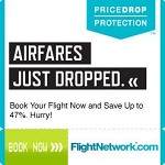 image of a flight comparison network ad, one of the ways to plan a cheap vacation