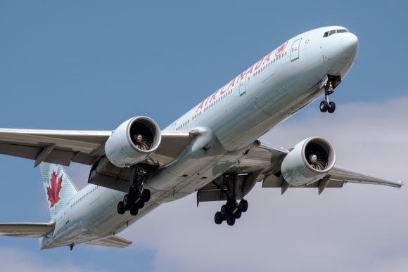 image of a cheap airplane flight taking off from Toronto