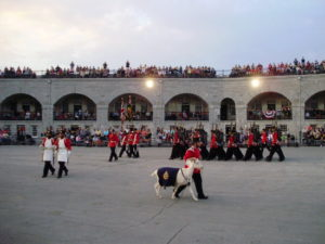image of the Sunset Ceremony at Fort Henery one of the cheap, fun things to do and attractions in Kingston Ontario