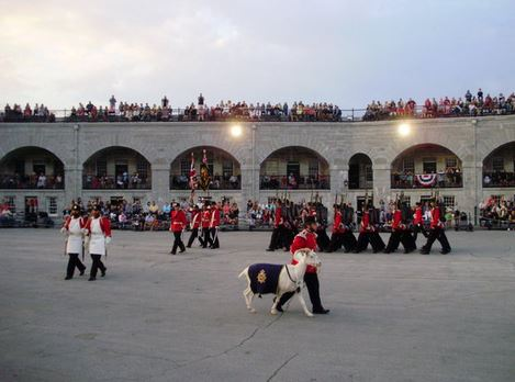 image of Fort Henry one of the cheap, fun, free things to do in Kingston, Ontario