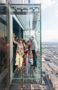 the edge at Willis tower one of the fun things to do in Chicago
